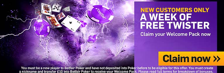 betfair poker welcome bonus